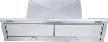 DA 3496 - Slimline cooker hood with energy-efficient LED lighting and light-touch switches for easy use.--Stainless steel